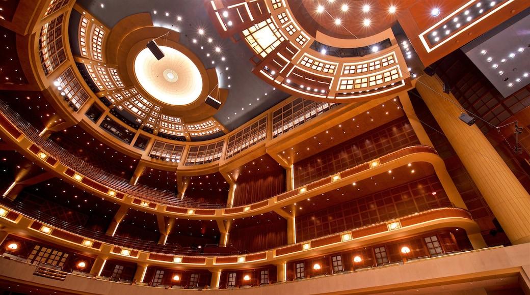 Morton H. Meyerson Symphony Center showing interior views and theatre scenes
