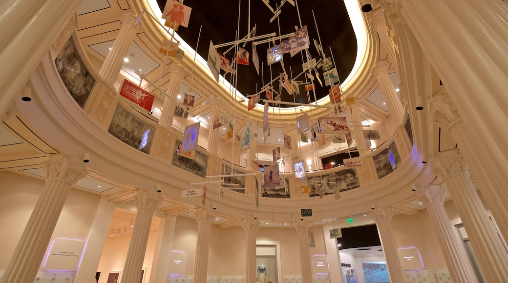 National Cowgirl Museum and Hall of Fame showing interior views