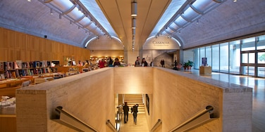 Kimbell Art Museum which includes interior views as well as a small group of people