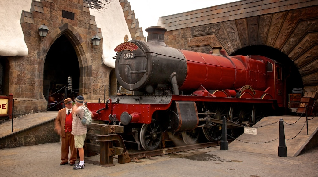 The Wizarding World of Harry Potter™ which includes railway items and rides as well as an individual male
