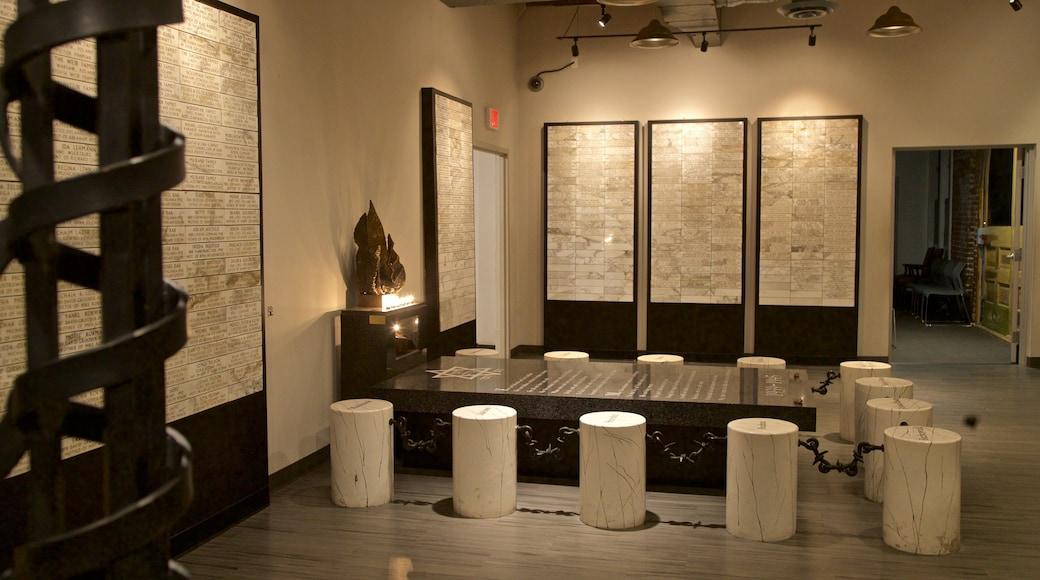 Dallas Holocaust Museum featuring interior views
