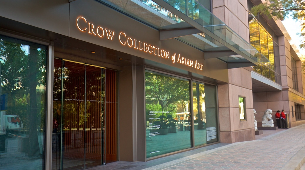 Trammell and Margaret Crow Collection of Asian Art featuring signage