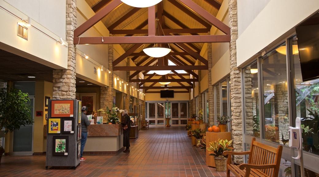 Fort Worth Botanic Garden featuring interior views