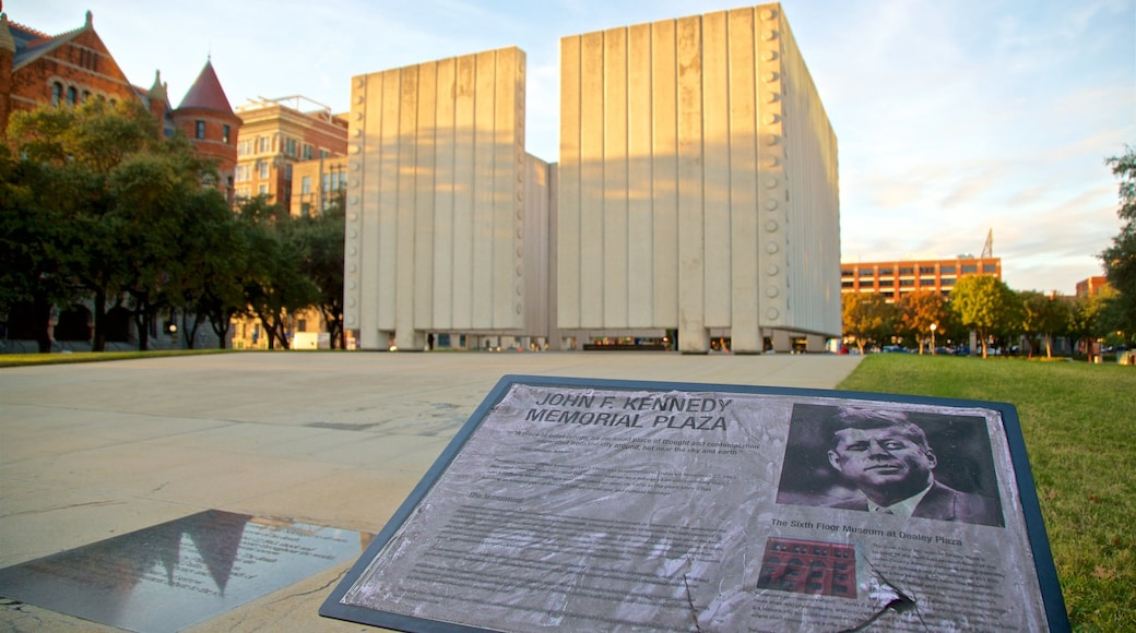 John F. Kennedy Memorial showing signage
