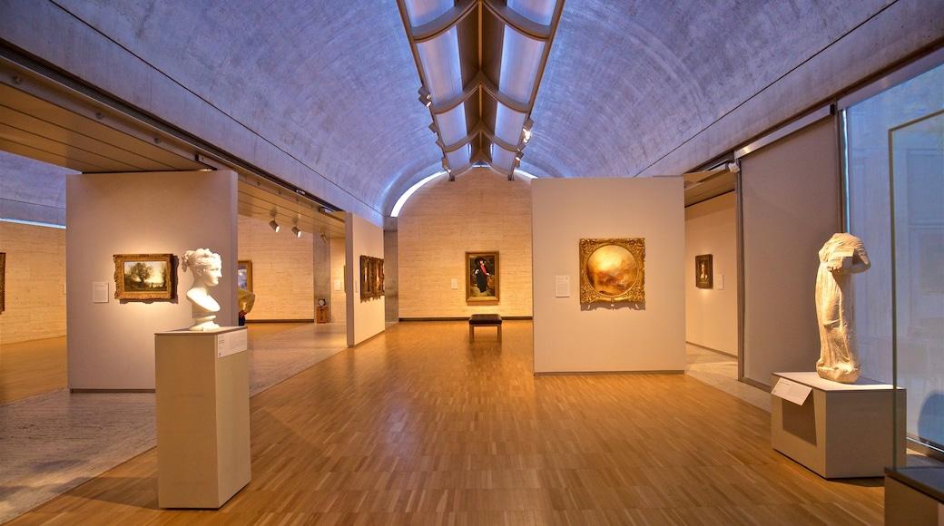 Kimbell Art Museum featuring art and interior views