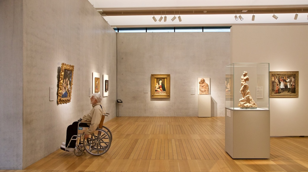Kimbell Art Museum which includes art and interior views as well as an individual male