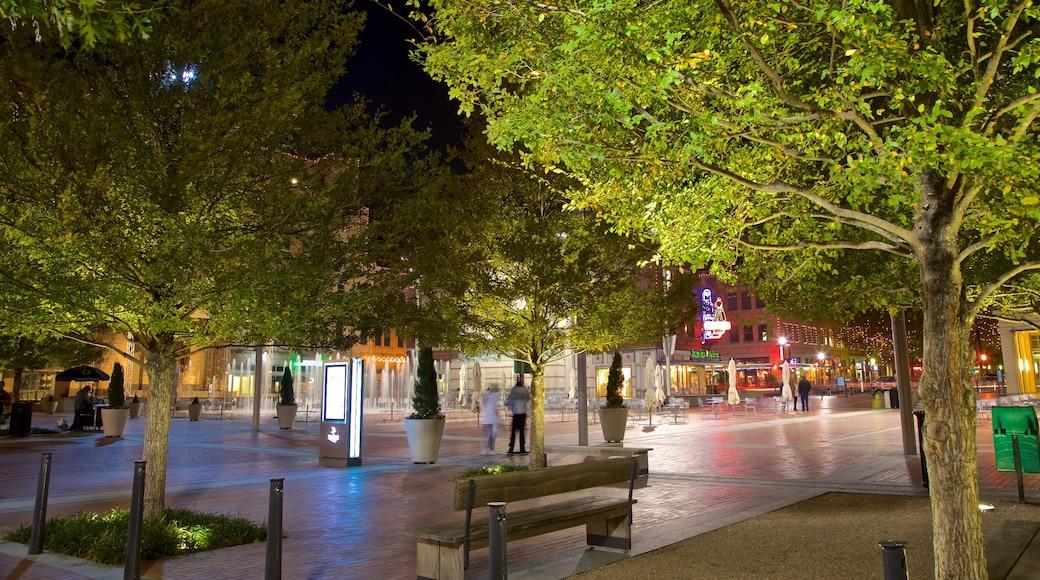 Sundance Square which includes night scenes