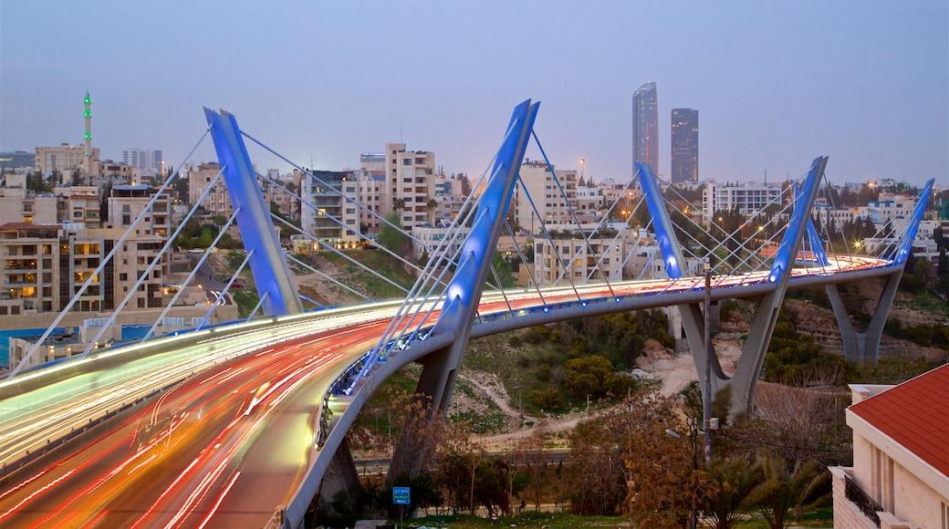 Abdoun-bron presenterar landskap och en bro