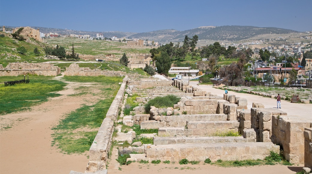 Hippodrome featuring a ruin, tranquil scenes and heritage architecture