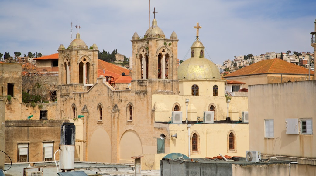 Synagogue Church of Nazareth showing heritage elements and a church or cathedral