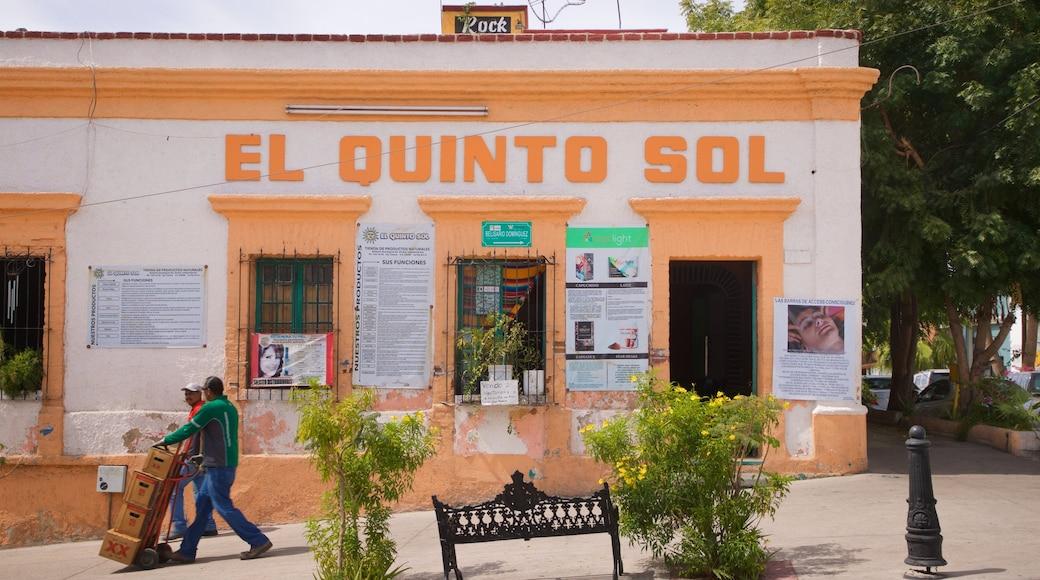 La Paz showing signage