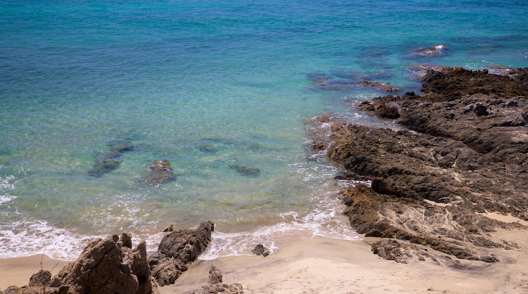 Todos Santos featuring general coastal views, rocky coastline and a beach