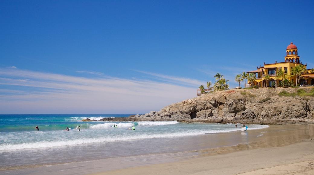 Los Cerritos Beach which includes general coastal views and a sandy beach