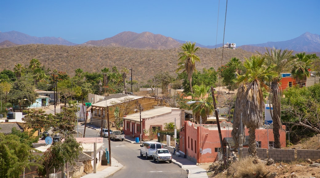 Los Cerritos Beach featuring a small town or village and landscape views