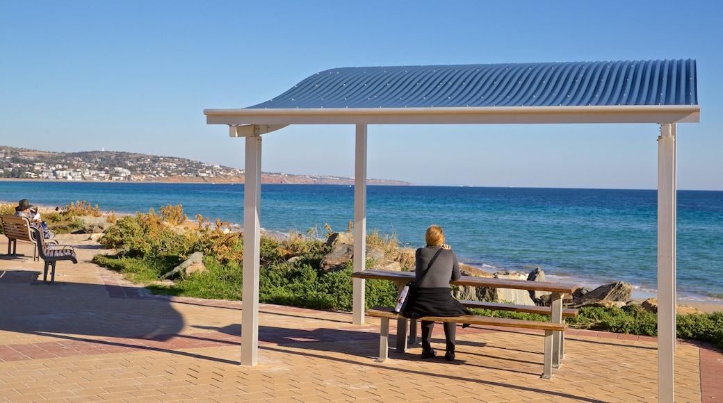 Brighton Beach which includes general coastal views as well as an individual femail