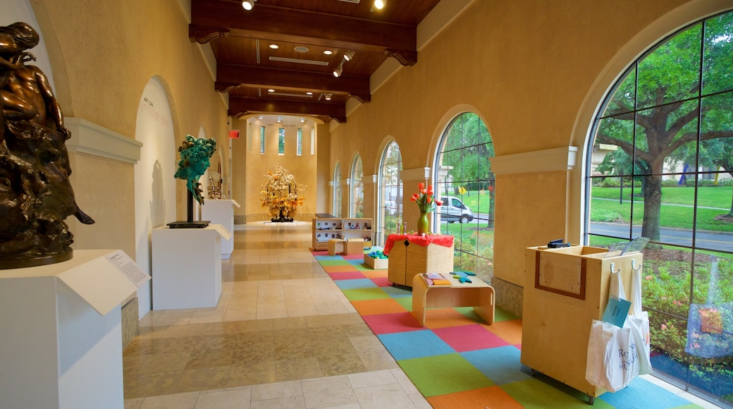 Cornell Fine Arts Museum showing interior views and art