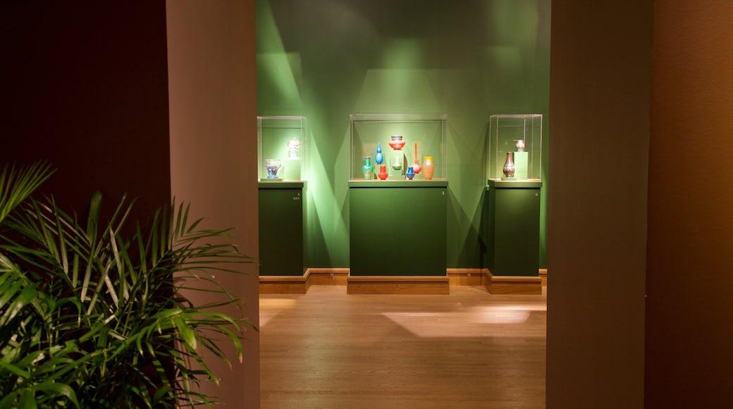 Morse Museum of American Art featuring interior views