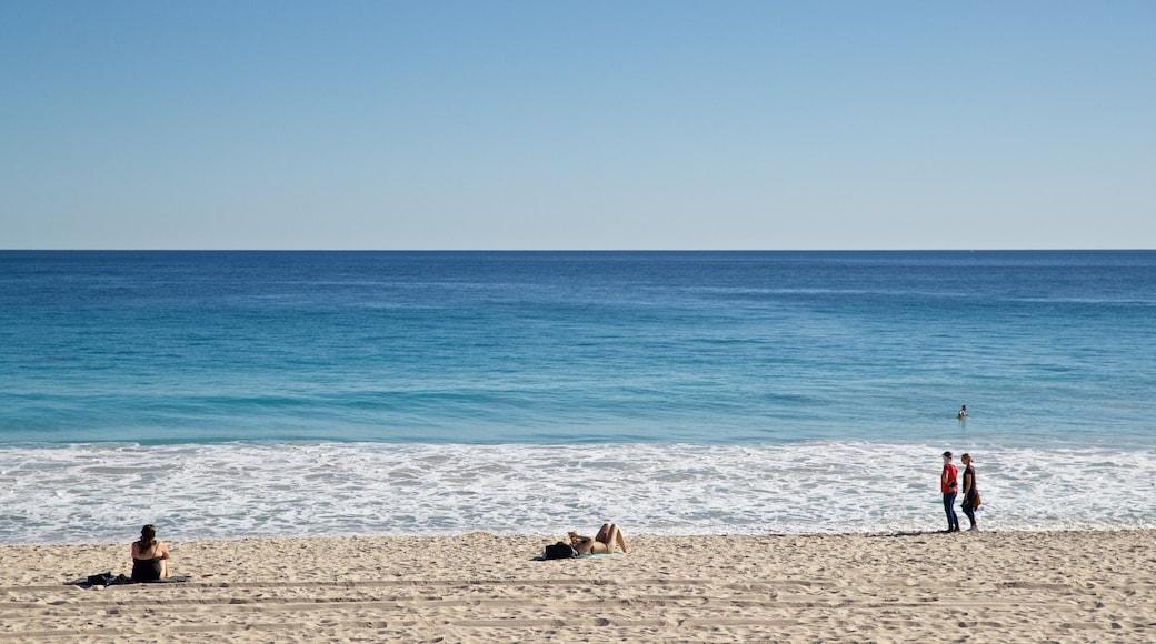 Scarborough Beach which includes a sandy beach and general coastal views