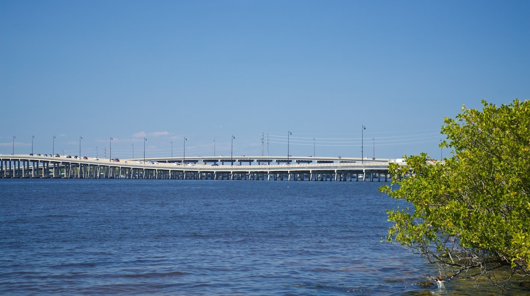 Punta Gorda showing a bridge and a river or creek