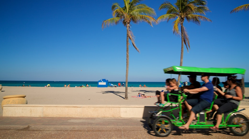 Hollywood Beach featuring general coastal views and a sandy beach as well as a small group of people