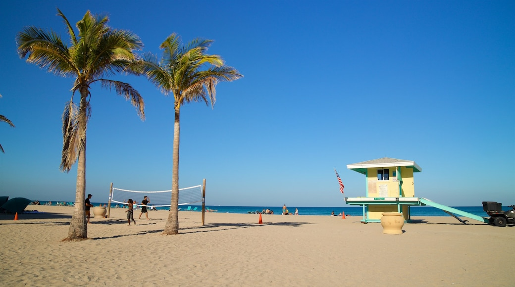 Hollywood Beach which includes a sandy beach, general coastal views and tropical scenes