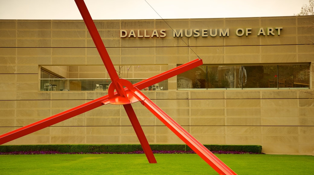 Dallas Museum of Art featuring signage
