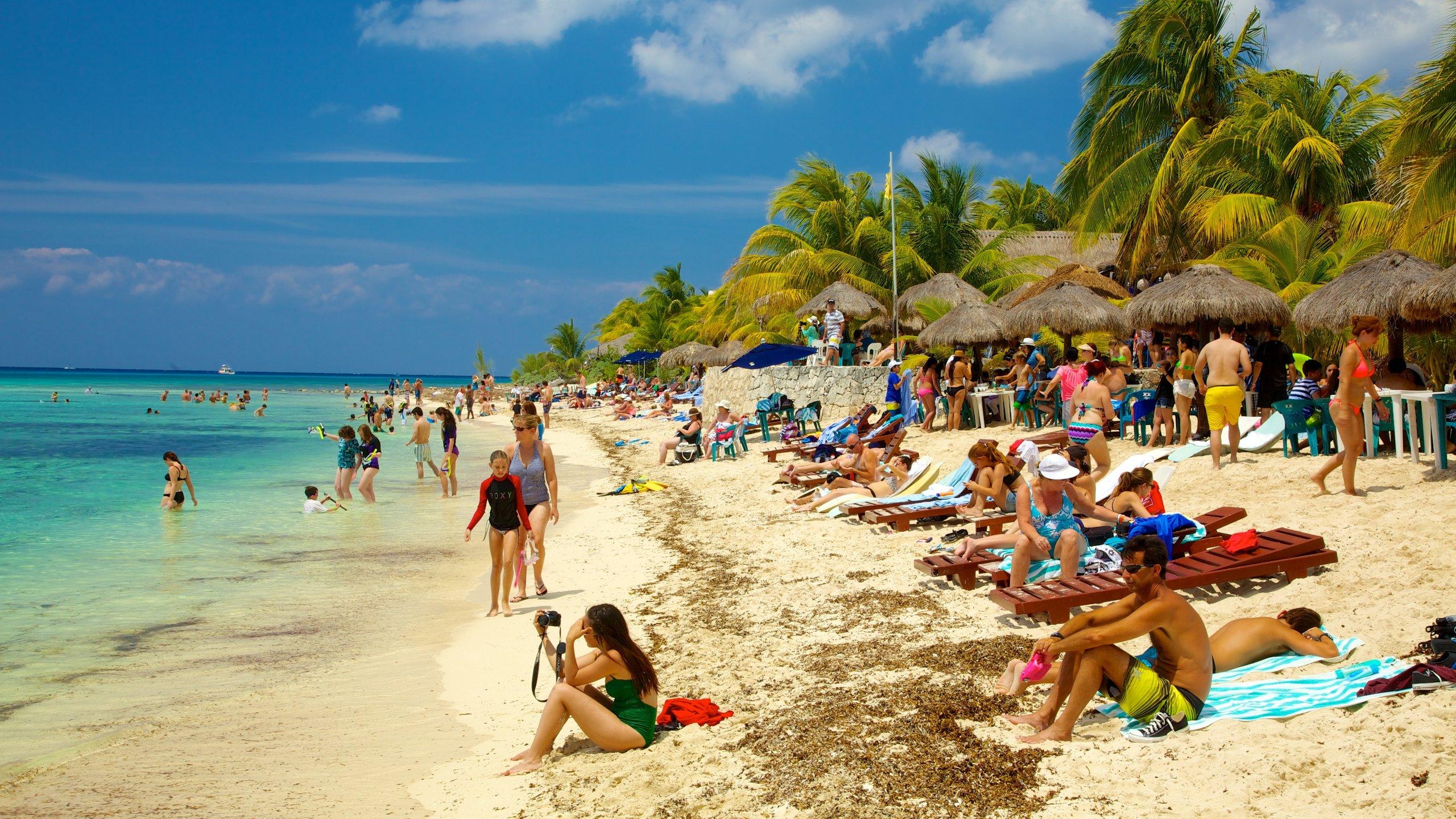 personas en Playa Palancar