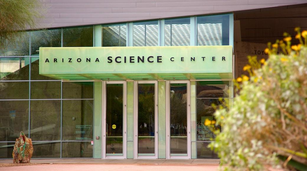 Arizona Science Center showing signage