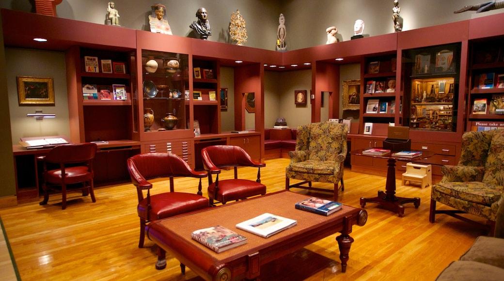 Museo de Arte de Denver que incluye vistas interiores y arte