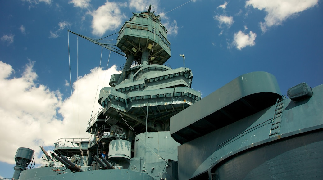 Battleship Texas showing military items
