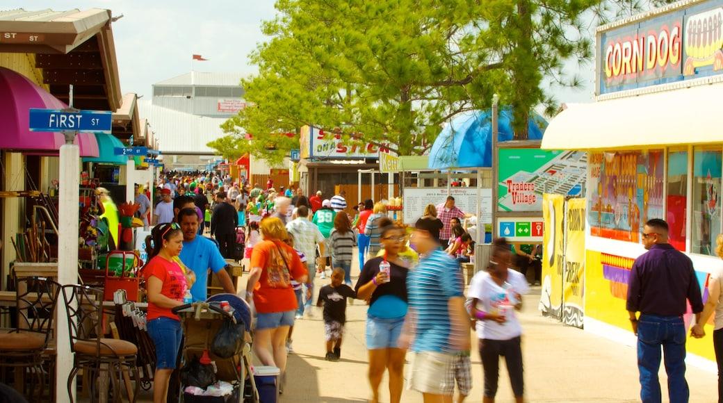 Traders Village mostrando uma cidade pequena ou vila, mercados e compras