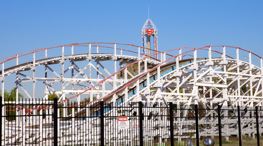 Six Flags Over Texas showing rides