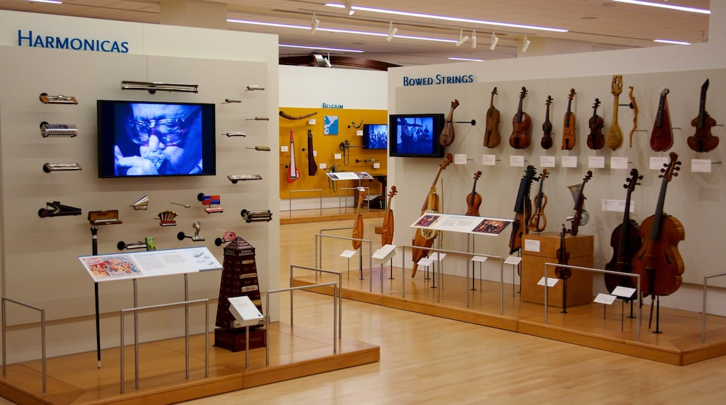 Musical Instrument Museum featuring music and interior views