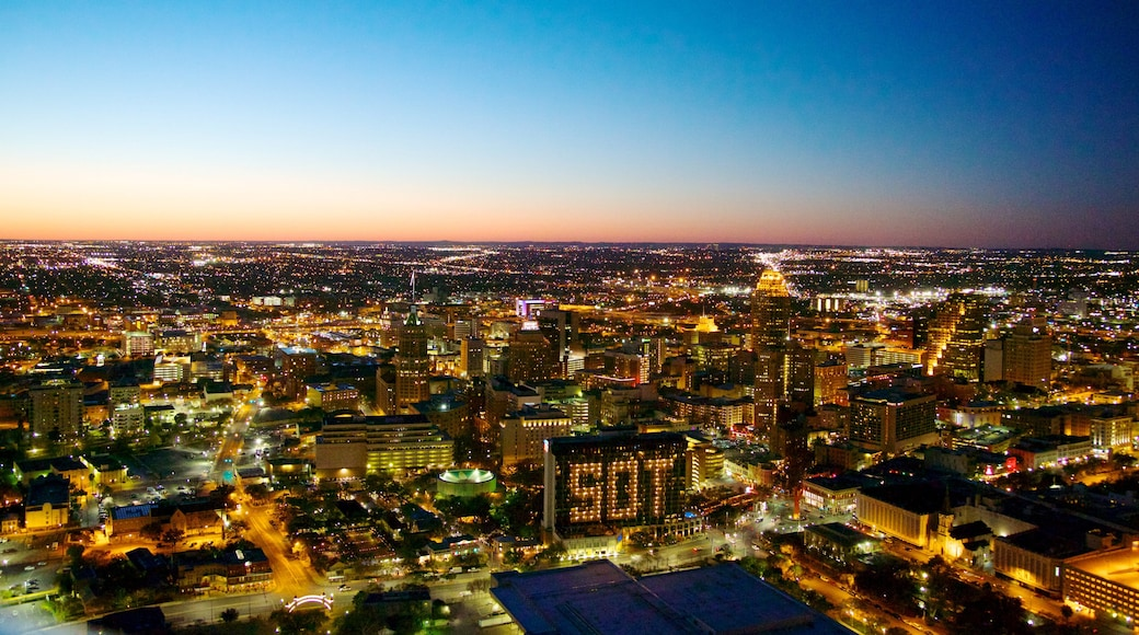 San Antonio which includes skyline, a sunset and cbd