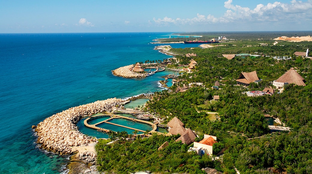 Xcaret Eco Theme Park featuring general coastal views, a coastal town and a luxury hotel or resort
