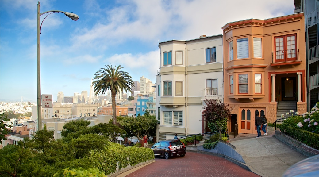 Lombard Street which includes a house