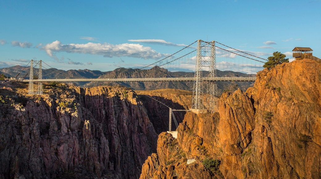 Colorado Springs featuring a bridge, a gorge or canyon and landscape views