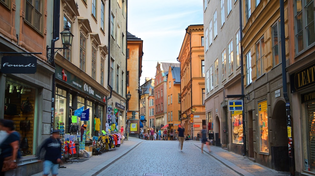 Gamla Stan showing a city