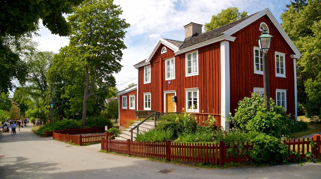 Skansen showing a small town or village and heritage architecture