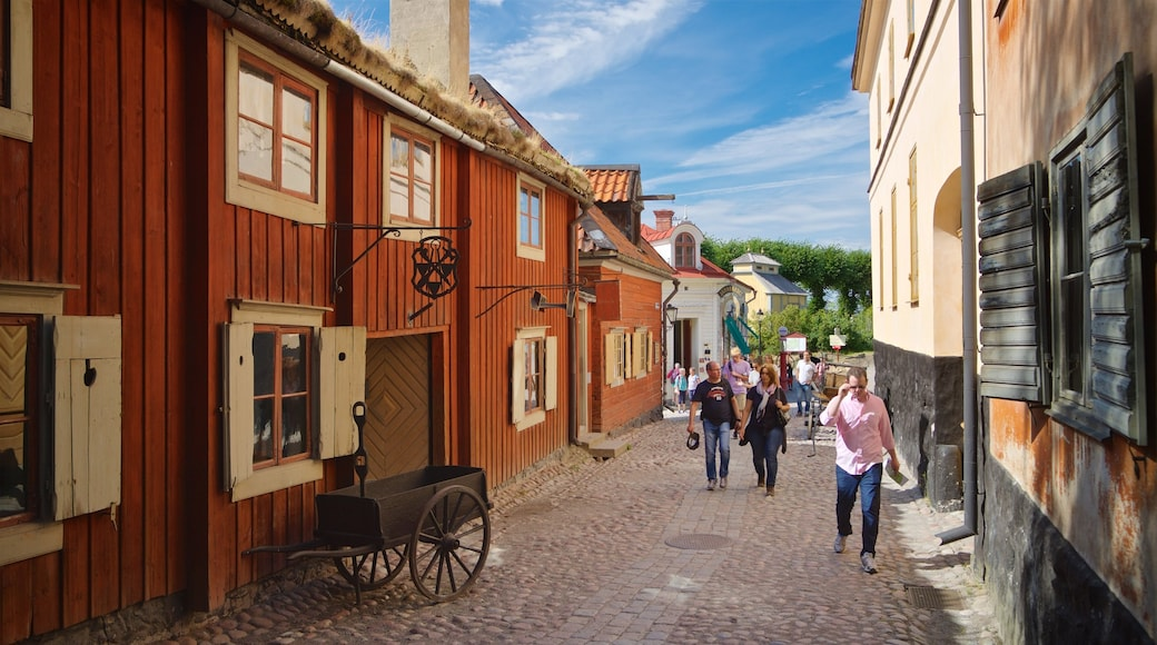 Skansen showing a small town or village