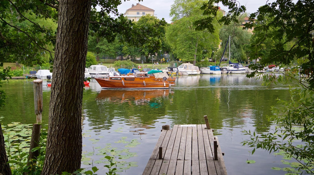 Langholmen featuring a bay or harbor