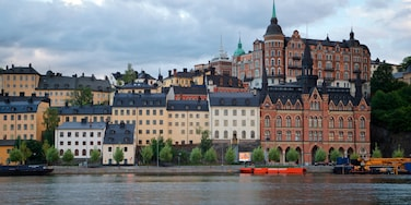 Sodermalm which includes a river or creek and a city