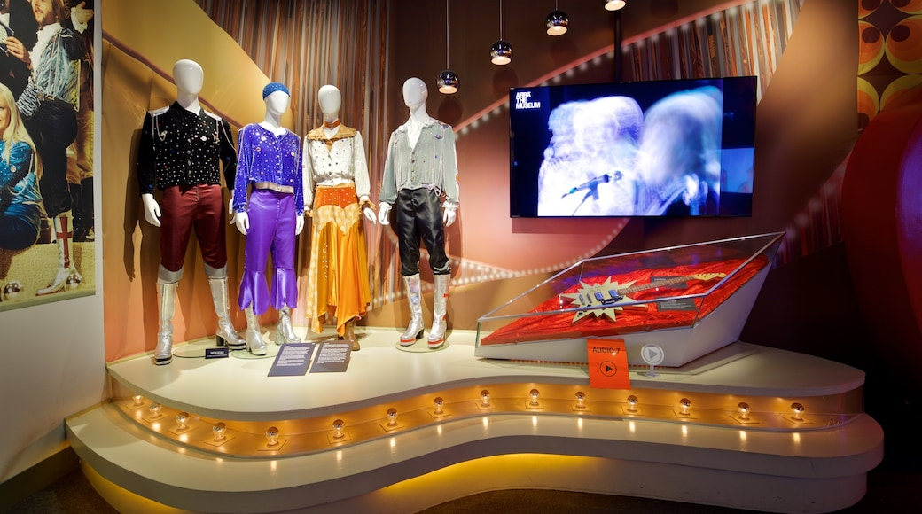 ABBA The Museum which includes interior views
