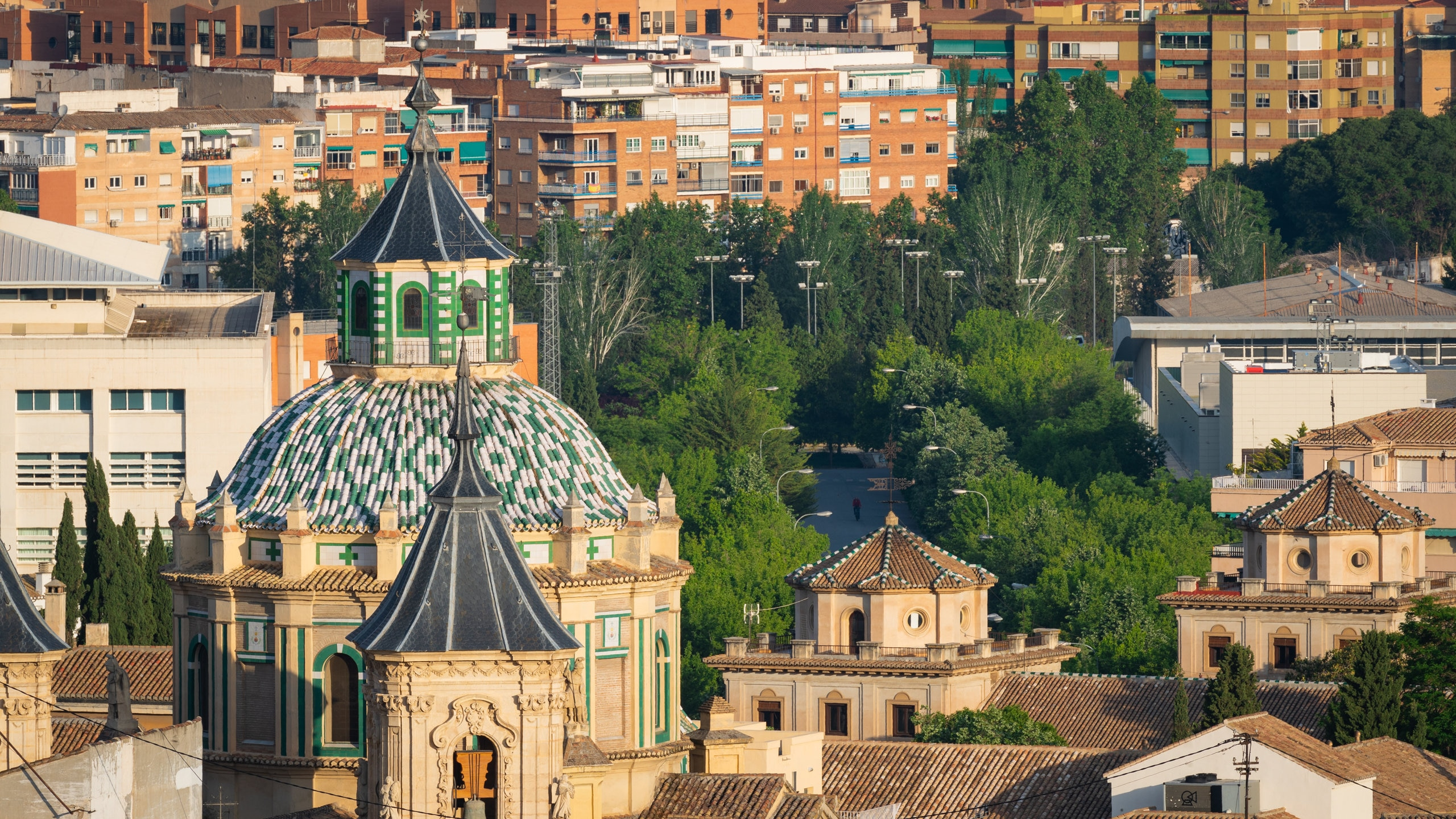 Granada featuring landscape views, heritage elements and a city