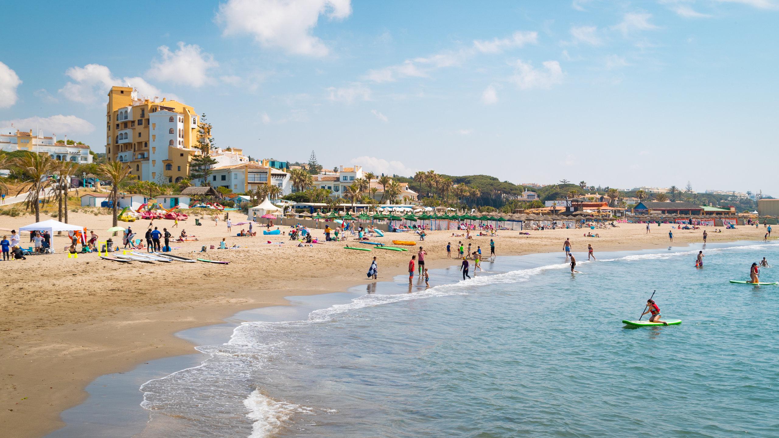 Strand Cabopino, Marbella, Andalusien, Spanien