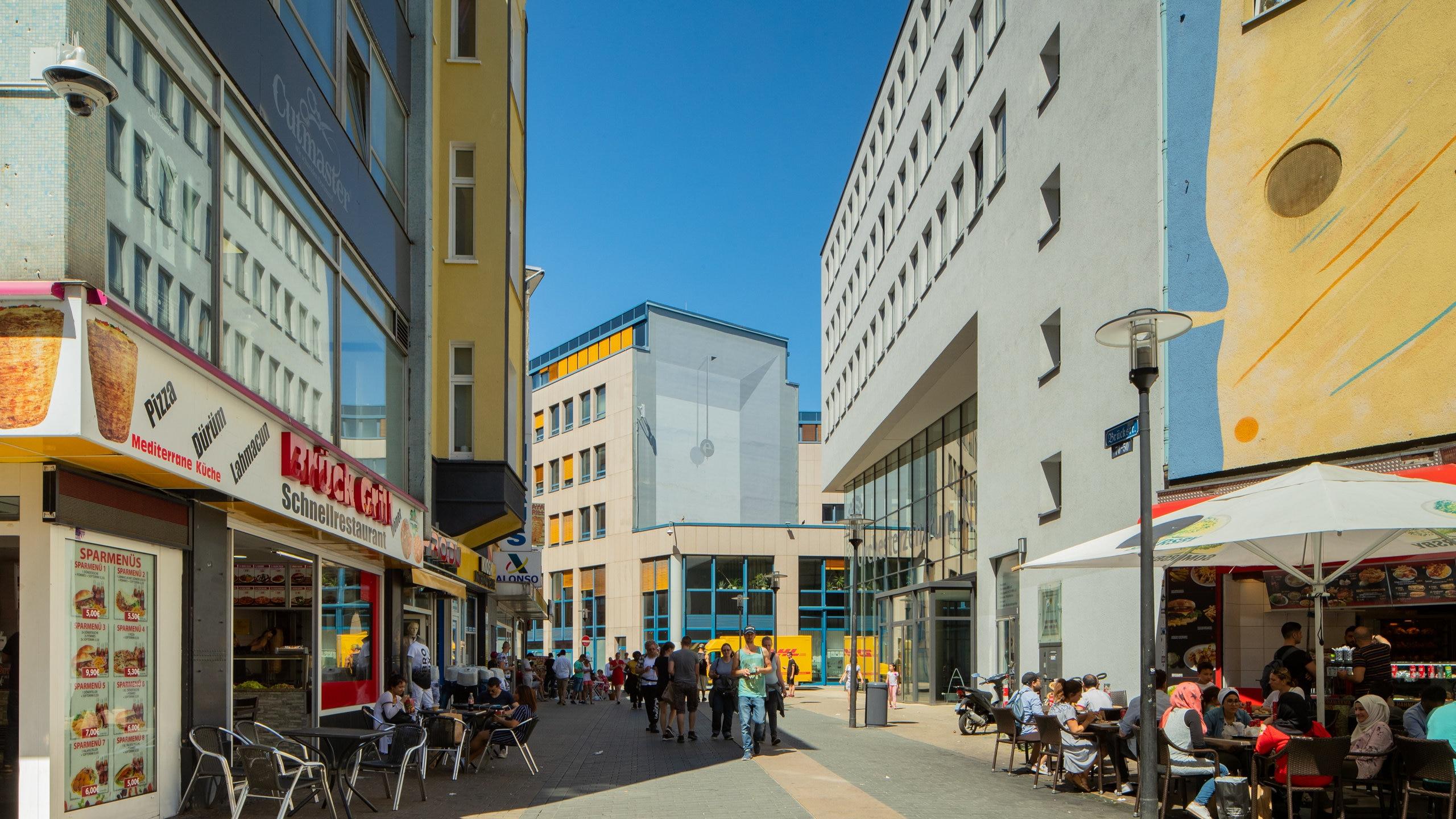 Rue Westenhellweg, Dortmund, Rhénanie-du-Nord-Westphalie, Allemagne