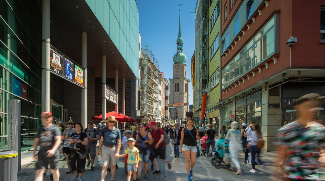 Dortmund City Centre featuring street scenes and a city as well as a small group of people