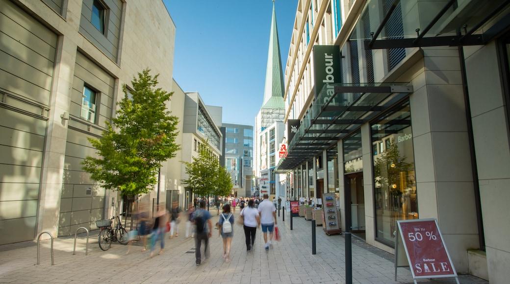 Dortmund City Centre showing signage
