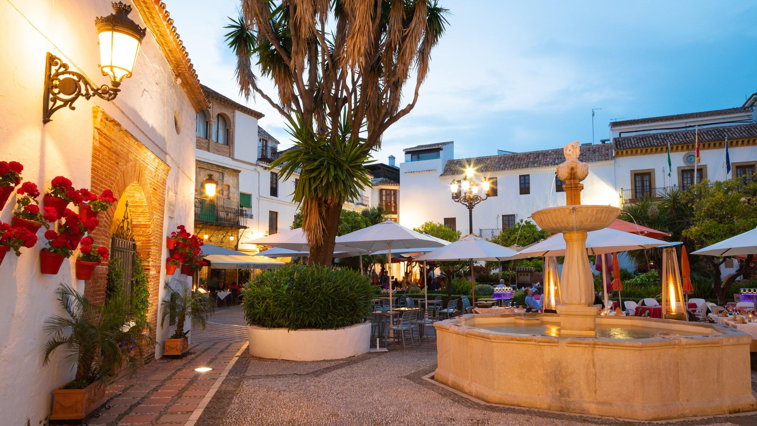 Stadscentrum van Marbella, Marbella, Andalusië, Spanje