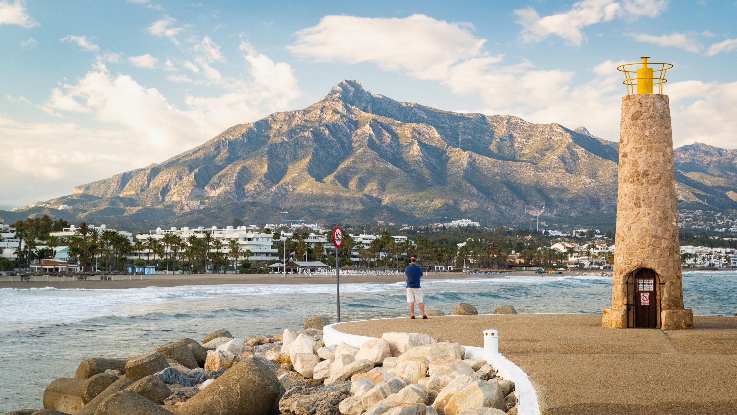 Spiaggia di Puerto Banus, Marbella, Spagna